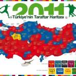 Türkiye'nin Taraftar Haritası (Galatasaray ve Fenerbahçe Kapışması)